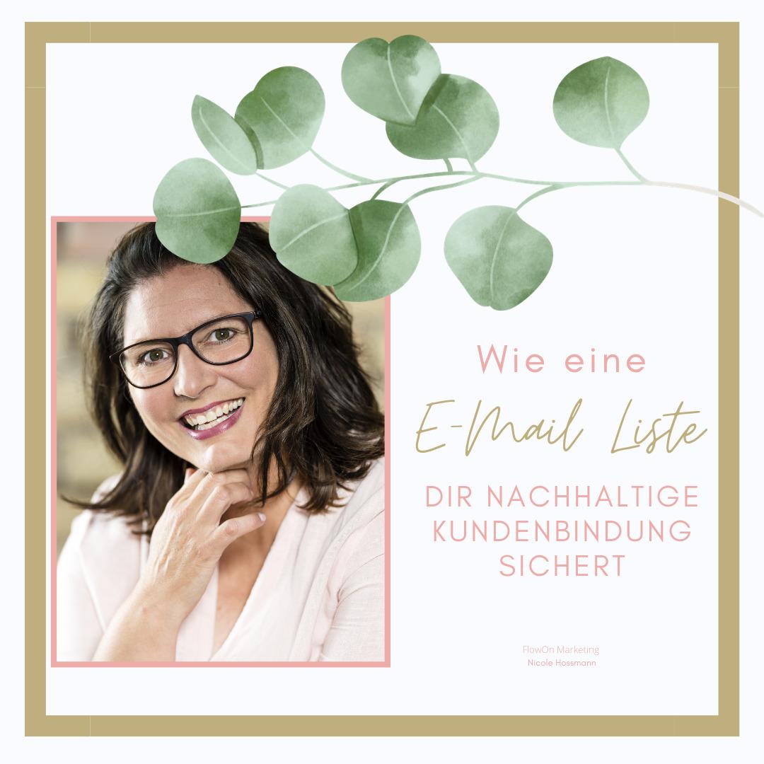 Die 5-Tages-Challenge für ein nachhaltiges E-Mail-Marketing. Nicole von Flowon Marketing erklärt schrittweise wie das gelingt und was es zu beachten gibt. Die Challenge ist schweizerdeutsch gesprochen für Unternehmer aus der Schweiz mit Schweizer Kunden.